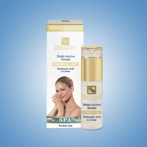 H&B Dead Sea Multi Active Serum with Hyaluronic Acid & Caviar extract 40ml