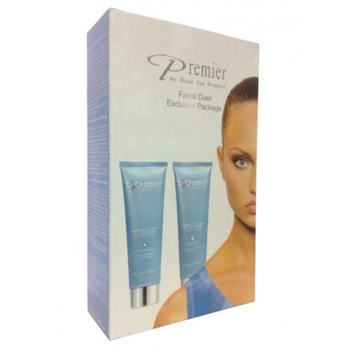 Dead Sea Premier Facial Duet Kit (Scientific Facial Cleanser,Scientific Moisture Multi Use)
