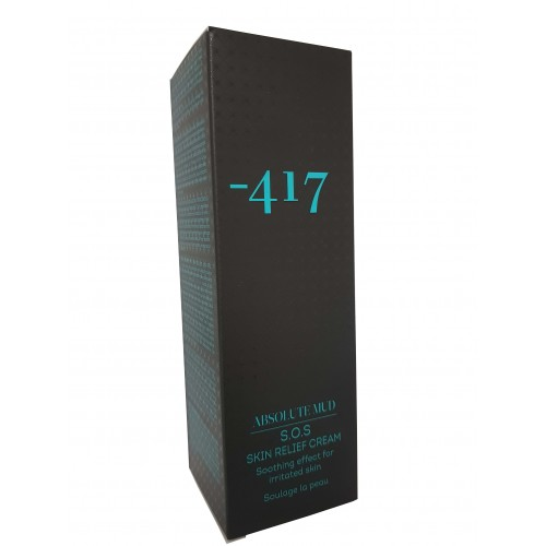 Minus 417 Dead Sea Cosmetics -  S.O.S. Skin Relief Cream Absolute Mud 100ml / 3.4 fl.oz.